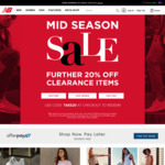 New Balance Take a Further 20% OFF Clearance