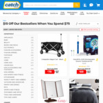 $15 off on $75 Spend (Discount Deducted in Cart, Limited Products + Shipping or Free Shipping with Club Catch) @ Catch