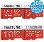 Samsung EVO Plus MicroSD - 64GB $19.20 | 128GB $40.40 | 256GB $75.20 Delivered @ Tech Mall eBay
