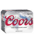 [QLD] Coors Lager Cans 12pk $25, [VIC] $26 ,Click and Collect Only @ BWS