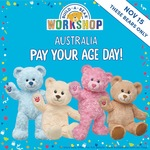 'Pay Your Age Day' 15/11/18 on Selected Bears (Max $15) @ Build-a-Bear Workshop (In-Store)