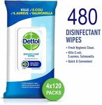 Dettol Antibacterial Disinfectant Wipes 480 $17.99 (Usually $30) + Delivery (Free with $49+ Spend or Prime) @ Amazon AU