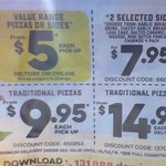 2 Selected Sides for $7.95*, Traditional Pizzas $9.95 (Pickup) & $14.95 (Delivered) @ Domino's (Selected Stores)