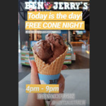 [VIC] Free Cone Day Thursday, January 24th 2019 (4PM-9PM) @ Ben & Jerry's (Hoyts, District Docklands)