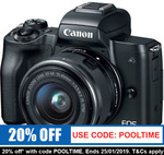 Canon EOS M50 15-45MM Single Lens Kit $663.20 Delivered @ Camera Store eBay