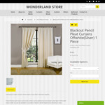 Pencil Pleat Curtains from $16.50 (140cm X 213cm) + Shipping @ Wonderland Store
