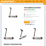 Ex-Demo & New Sabeka Electric Scooter from $350 & $400 @ WalkSmart Pyrmont (NSW) & Online (Free Shipping Online)