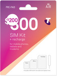 Telstra Prepaid 12 Month SIM $200 (150GB Data, Unlimited Calls/Text, Intl Calls to 20 Countries) @ Telstra