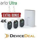 [eBay Plus] NetGear Arlo Ultra 4K UHD Security System VMS5340 - 3 Cameras (Bonus 2 Wall Mount Kits) $1095.65 @ Device-Deal eBay