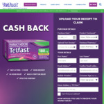 Get $5-$7 Cashback with Telfast 180mg 50s ($5 Cashback), Telfast 180mg 60s ($6 Cashback) or Telfast 180mg 70s ($7 Cashback)