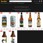 25% off Select Beers and Ciders + Delivery @ BoozeBud