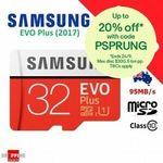 Samsung EVO Plus 32GB Micro SD, SanDisk Ultra 32GB Micro SD - 2 for $12 + Delivery ($0 w/eBay Plus) @ Shopping Square eBay