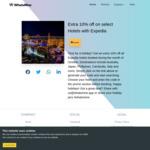 10% off Expedia Hotel Bookings through WhatsMine