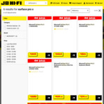 15% off Surface Pro X: from 8GB RAM/128GB $1443 to 16GB RAM/512GB $2464 + Delivery ($0 C&C/in-Store) @ JB Hi-Fi