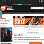 Up to 75% off ESP (e.g. EX-Series Explorer Avatar Graphic or Outlaw $629, AX-2ENG Ebony $399) @ Belfield Music