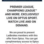 Free Optus Sport Subscription for Ladbrokes Members