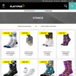 Stance Socks $4.99-$9.99 + Shipping at Platypus Shoes