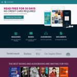 30 Days Free Access to 1000s of Audiobooks, Magazines & Digital Books (No Credit Card Required) @ Scribd