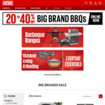 20-40% off Big Brands (40% off Nexgrill, 30% off All Kamado Joe BBQs, 20% off All Ziegler & Brown BBQs) @ Barbeques Galore