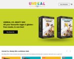 Up to 50% off  Vegan Meaty Mixes (e.g. 10 Packs for $40 (Save $40)) + Free Delivery @ Unreal Co.