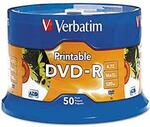 Verbatim DVD-R 4.7GB 16x White Inkjet Spindle 50 Pack $19.95 + Delivery ($0 with Prime/ $39 Spend) @ Ezi Office Amazon AU