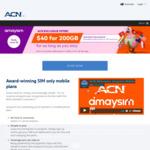 Unlimited Talk & Text + 200GB Per 28 Days $40 @ amaysim (ACN Referrer Required)