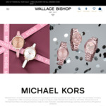 Bonus Michael Kors Clutch Bag with a Michael Kors Watch Purchase (Prices Start from $179) @ Wallace Bishop