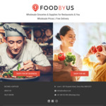 [NSW, VIC] $50 off First Order @ Foodbyus, Minimum Order Value Applies, Free Delivery Syd & Melb Metro Areas only