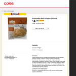 Katoomba Roti Paratha 20 Pack Half Price $4.50 @ Coles (Selected Stores/States)