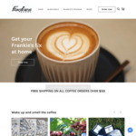 30% off Coffee, + Free Shipping over $50 Spend + Bonus 250g Coffee for Newsletter Signup @ Frankie's Beans