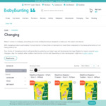 BabyRoos Nappies Size 2-5 for $5 + Delivery (Free Click N Collect) @ Baby Bunting