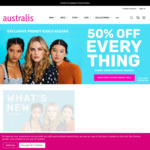 50% off Sitewide (Excludes Sale) (Free Shipping with $50 Order) @ Australis Cosmetics