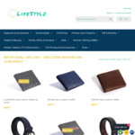 50% off of Men's Leather Belts and Wallets, 20% off Women's Bags, 10% off Kids Cars, Outdoor Furniture @ LifeStylz + Shipping