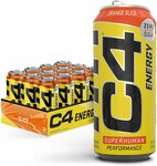 [Prime] 2x Cellucor C4 Energy Drink Orange Slice 12-Can $82.15 ($3.38/Can) Delivered @ Amazon US via AU