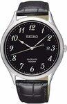 Seiko Sapphire Black Dial Men's Quartz Watch $137.40 + Delivery (Free with Prime) @ Amazon US via AU