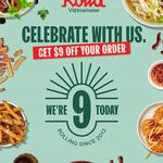 $9 off $30 Spend @ Roll'd (Online or via App)