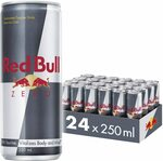 Red Bull Energy Drink Zero Calories: 24x250ml $33.90 ($30.51 S&S) + Delivery ($0 with Prime/ $39 Spend) @ Amazon AU