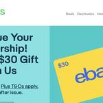 Free $30 eBay Gift Card @ eBay