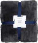 Reversible Sherpa Blanket in Charcoal $64.97 (Was $129.95) Delivered @ Myer