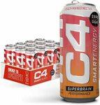 [Prime] C4 Smart Energy Drink: 12x473ml Cans Peach Mango Nectar $32.58 | Black Cherry $33.90 Shipped @ Amazon US via AU