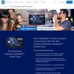 AmEx Cashback Credit Card - 10% Bonus Cashback ($200 Cap) or $120 Cashback ($1200 Spend) - First 3 Months - New Card Member Only