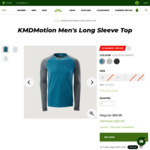 KMDmotion Baselayer Thermals $20 (Summit Membership Required) + $10 Delivery ($0 C&C/ $50 Order) @ Kathmandu