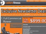 Full Commercial Rower- $899 @ Calibre Fitness. Free Shipping Australia-Wide for OzBargainers!!