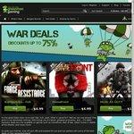 GMG War Deals 50% to 75% off