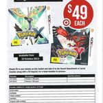 [PREORDER] Pokemon X/Y for $49 at Target