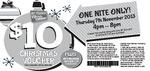 Spotlight $10 Voucher Valid Thursday 7th November 4pm-8pm