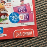 iTunes Gift Card 2x $20 for $30 (25% off) at Big W
