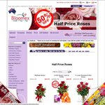 Bloomex.com.au Half Price Roses, Dozen Long Stem in Box for $49.95 + Approx $15.00 Delivery Fee