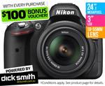 Nikon D5200 DSLR Camera Single Lens Kit - $699 +P/H with Bonus $100 Voucher @ COTD