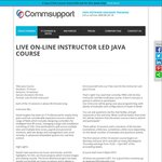 Free Live on-Line JAVA PROGRAMMING Course